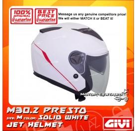 GIVI JET HELMET M30.2 PRESTO M SOLID WHITE