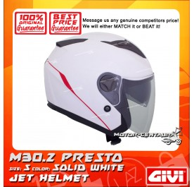 GIVI JET HELMET M30.2 PRESTO S SOLID WHITE