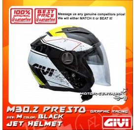 GIVI JET HELMET M30.2 PRESTO M GRAPHIC RACING BLACK
