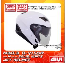 GIVI JET HELMET M30.3 D-VISOR M SOLID WHITE