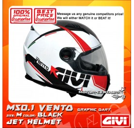 GIVI FULL FACE HELMET M50.1 VENTO M GRAPHIC DART BLACK
