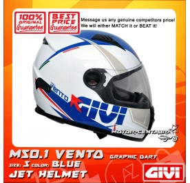 GIVI FULL FACE HELMET M50.1 VENTO S GRAPHIC DART BLUE