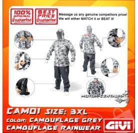 GIVI RAINSUIT CAM01 3XL CAMOUFLAGE