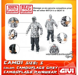 GIVI RAINSUIT CAM01 S CAMOUFLAGE