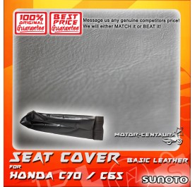 SUNOTO SEAT COVER [BASIC] HONDA C65 / C70 BLACK