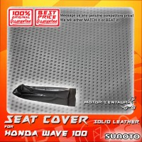 SUNOTO SEAT COVER [SOLID LEATHER] HONDA WAVE 100 BLACK