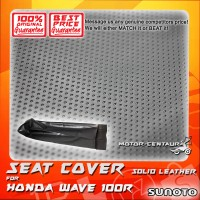 SUNOTO SEAT COVER [SOLID LEATHER] HONDA WAVE 100R BLACK