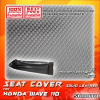 SUNOTO SEAT COVER [SOLID LEATHER] HONDA WAVE 110 BLACK
