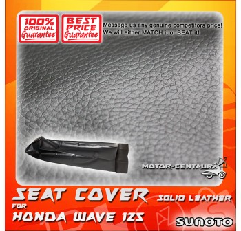 SUNOTO SEAT COVER [SOLID LEATHER] HONDA WAVE 125 BLACK