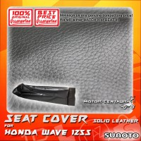 SUNOTO SEAT COVER [SOLID LEATHER] HONDA WAVE 125S BLACK