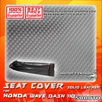 SUNOTO SEAT COVER [SOLID LEATHER] HONDA WAVE DASH BLACK