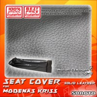 SUNOTO SEAT COVER [SOLID LEATHER] MODENAS KRISS BLACK