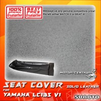 SUNOTO SEAT COVER [SOLID LEATHER] YAMAHA Y135 LC BLACK