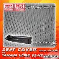 SUNOTO SEAT COVER [SOLID LEATHER] YAMAHA Y135 LC NEW BLACK