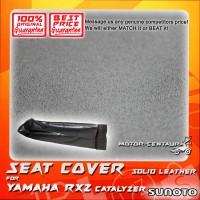 SUNOTO SEAT COVER [SOLID LEATHER] YAMAHA RXZ CATALYZER BLACK