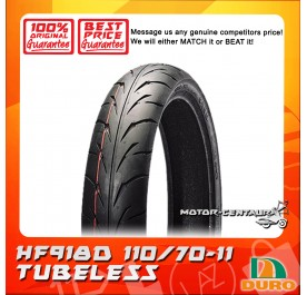 DURO TUBELESS TYRE HF918D 110/70-11