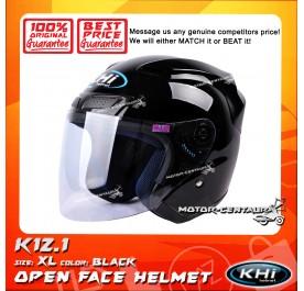 KHI HELMET K12.1 BLACK XL