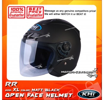 KHI HELMET RR MATT BLACK XL