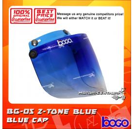 BOGO VISOR BG-05 2-TONE BLUE, BLUE CAP