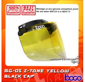 BOGO VISOR BG-05 2-TONE YELLOW, BLACK-CAP