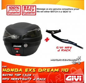 GIVI B27N2 TOP CASE + GIVI HONDA EX5 DREAM 110 HRV HEAVY DUTY RACK