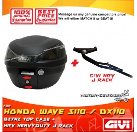GIVI B27N2 TOP CASE + GIVI HONDA WAVE S110 / DX110 HRV HEAVY DUTY RACK