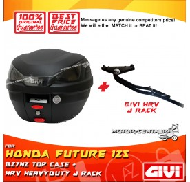 GIVI B27N2 TOP CASE + GIVI HONDA FUTURE 125 HRV HEAVY DUTY RACK