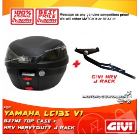 GIVI B27N2 TOP CASE + GIVI YAMAHA LC135 V1 HRV HEAVY DUTY RACK