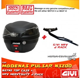 GIVI B27N2 TOP CASE + GIVI MODENAS PULSAR NS200 HRV HEAVY DUTY RACK