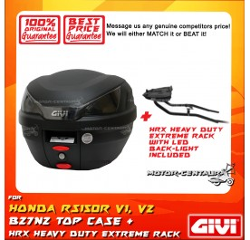 GIVI B27N2 TOP CASE + GIVI HONDA RS150R HRX HEAVY DUTY EXTREME RACK