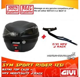 GIVI B27N2 TOP CASE + GIVI SYM SPORT RIDER 125I HRV HEAVY DUTY RACK