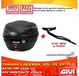 GIVI B27N2 TOP CASE + GIVI YAMAHA LAGENDA SRL 115 ZR FI HRV HEAVY DUTY RACK