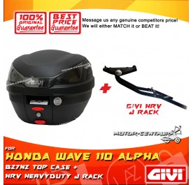 GIVI B27N2 TOP CASE + GIVI HONDA WAVE 110 ALPHA HRV HEAVY DUTY RACK