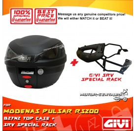 GIVI B27N2 TOP CASE + GIVI MODENAS PULSAR RS200 SRV SPECIAL RACK