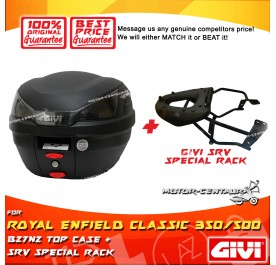 GIVI B27N2 TOP CASE + GIVI ROYAL ENFIELD CLASSIC 350 / 500 SRV SPECIAL RACK