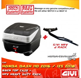 GIVI B32N TOP CASE +  GIVI HONDA DASH 110 2016 / 125 2018 HRV HEAVY DUTY RACK
