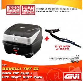 GIVI B32N TOP CASE + GIVI BENELLI TNT 25 HRV HEAVY DUTY RACK