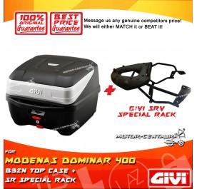 GIVI B32N TOP CASE + GIVI MODENAS DOMINAR 400 SRV SPECIAL RACK