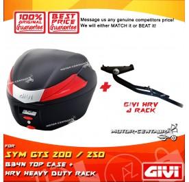 GIVI B34N TOP CASE + GIVI SYM GTS 200 / 250 HRV HEAVY DUTY RACK