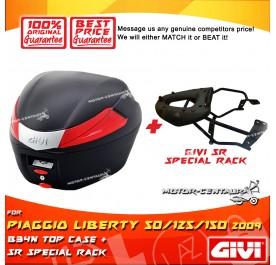 GIVI B34N TOP CASE + GIVI YAMAHA NVX155 SRV SPECIAL RACK