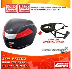 GIVI B34N TOP CASE + GIVI SYM VTS200 SRV SPECIAL RACK