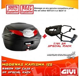 GIVI B360N TOP CASE + GIVI MODENAS KARISMA 125 SR SPECIAL RACK