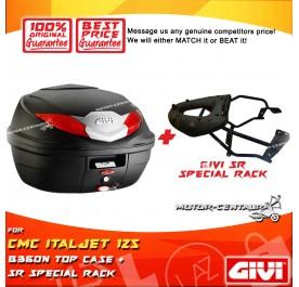 GIVI B360N TOP CASE + GIVI CMC ITALJET 125 SRV SPECIAL RACK