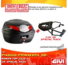 GIVI B360N TOP CASE + GIVI PIAGGIO PRIMAVERA 150 SRV SPECIAL RACK