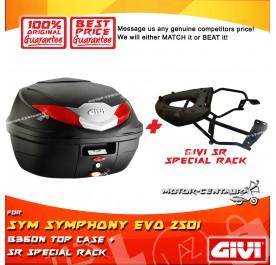 GIVI B360N TOP CASE + GIVI SYM SYMPHONY EVO 250I SRV SPECIAL RACK