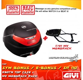 GIVI E30TN TOP CASE + GIVI SYM BONUS / E-BONUS / SR 110 MV MONORACK