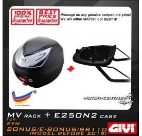 GIVI E250N2 TOP CASE + GIVI SYM BONUS / E-BONUS / SR 110 MV MONORACK