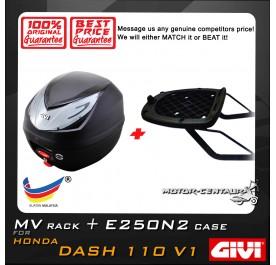 GIVI E250N2 TOP CASE + GIVI HONDA WAVE DASH 110 V1 MV MONORACK