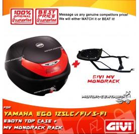 GIVI E30TN TOP CASE + GIVI YAMAHA EGO 125LC / 125LC-FI / 115S-FI MV MONORACK