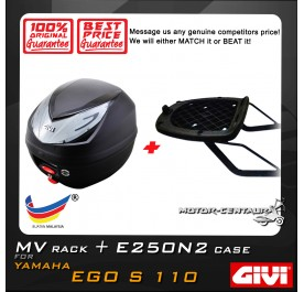 GIVI E250N2 TOP CASE + GIVI YAMAHA EGO S 110 MV MONORACK